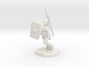 Barbarian Katie 3 in White Natural Versatile Plastic