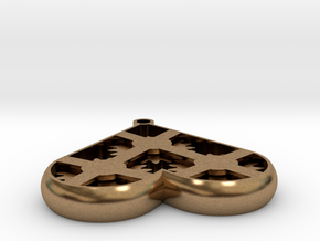 Geared Heart in Natural Brass (Interlocking Parts)