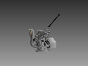 Bofors MKVII elevated 1/96 in Smooth Fine Detail Plastic