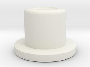 SwedishVaper SquonkER Style D button tall in White Natural Versatile Plastic