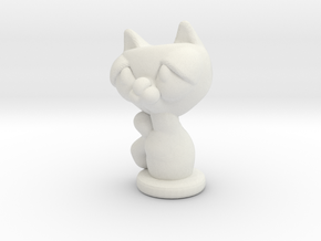 kitty in White Natural Versatile Plastic