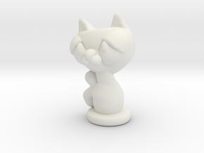kitty in White Natural Versatile Plastic