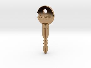 """Wynonna Earp """"Athena"""" Key in Polished Brass"""
