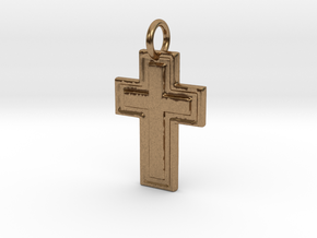 Harvey Relief Pendant in Natural Brass