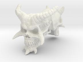 Demon Skulls 1:6 scale in White Natural Versatile Plastic