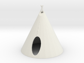 O Scale Teepee2 in White Natural Versatile Plastic