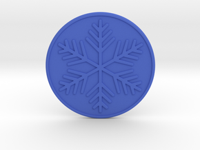 Snowflake Coaster in Blue Processed Versatile Plastic