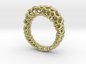 Cavity_Band in 18k Gold Plated Brass: 6 / 51.5