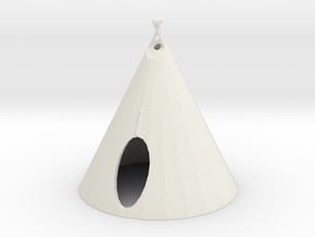S Scale Teepee2 in White Natural Versatile Plastic