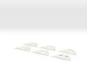 McGann Console - Control Panels in White Processed Versatile Plastic