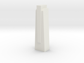 Triple Underpass East Wing Wall Cap in White Natural Versatile Plastic
