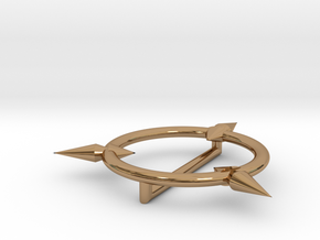 Little Witch Academia hat brooch in Polished Brass