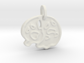 2 Ghosts Halloween Pendant in White Natural Versatile Plastic