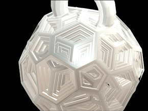 Inside the Hive Pendant in Frosted Ultra Detail