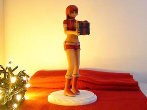 """Santa Girl"" Figure (Full Color) in Full Color Sandstone"