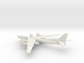 Tupolev Tu-95MS Bear-H in White Natural Versatile Plastic: 1:500