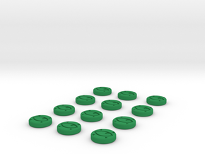 Focus Tokens  in Green Strong & Flexible Polished
