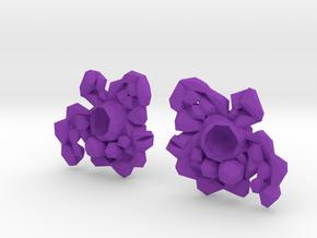 Earring Set in Purple Processed Versatile Plastic