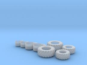 H0 1:87 Stollenreifen für Wiking Claas Arion in Smooth Fine Detail Plastic