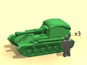 6mm SU-76M self-propelled gun in Smoothest Fine Detail Plastic