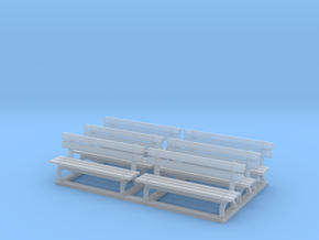 Park bench 01. 1:64 Scale  in Smooth Fine Detail Plastic