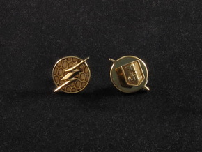 Flash cufflinks in Polished Brass