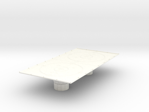 1/270 Imperial Landing Pad (Large) in White Processed Versatile Plastic