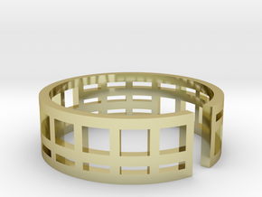 Architecture ring Corbusier Unité d'Hab size 5,5-6 in 18k Gold Plated Brass