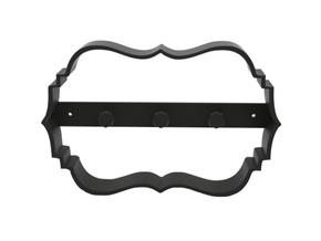 Key holder in Black Natural Versatile Plastic