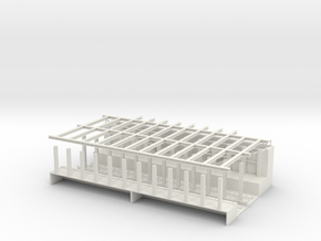 HO SCALE SUBWAY STATION  in White Natural Versatile Plastic