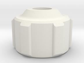 K.A.S.S. Steering Spring Housing v1 [Cap] in White Natural Versatile Plastic