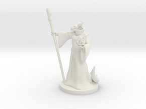Dragonborn Wizard Male in White Natural Versatile Plastic