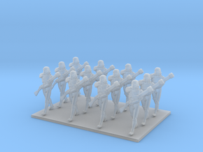 1/144 Custom Diorama Soldiers Marching X 12 in Smooth Fine Detail Plastic