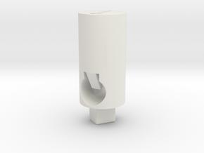 Tippmann M4 V1 Hop Up Nub - Long flat 90° in White Natural Versatile Plastic