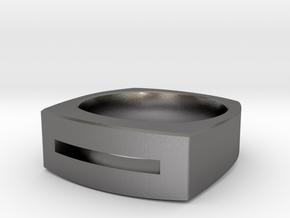 Slot Ring in Polished Nickel Steel: 10 / 61.5