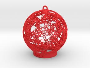 Hope Ornament in Red Processed Versatile Plastic: Medium