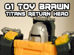 Brawn (Titans Return) Toy/Jipe Head  in Frosted Ultra Detail
