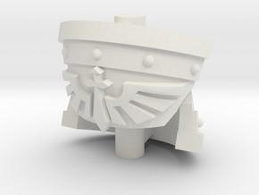Tribune Heavy Shoulder Pad - Angel Sword set in White Natural Versatile Plastic: Small