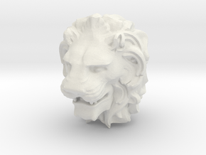 Lion Head in White Natural Versatile Plastic