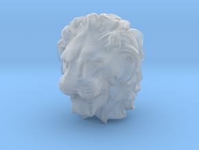 Lion Head in Smooth Fine Detail Plastic