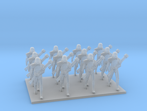 1/72 Star Falcon Diorama - Marching Troopers X 12 in Smooth Fine Detail Plastic