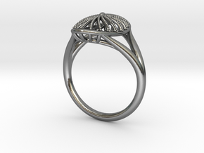Oval Fashion Ring in Polished Silver