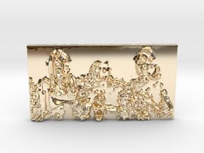 Sunny's Forever Family 3G Pendant in 14k Gold Plated Brass