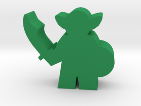 Game Piece, Goblin Warrior in Green Processed Versatile Plastic