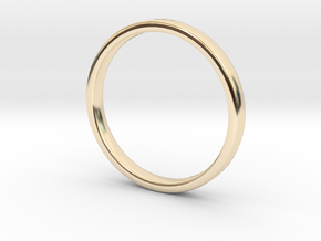 Simple wedding ring 2x1.1mm in 14K Yellow Gold: 5 / 49