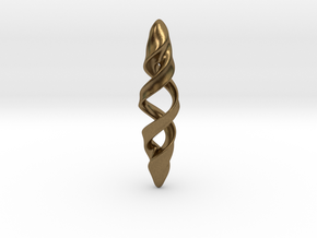 Double Spiral in Natural Bronze