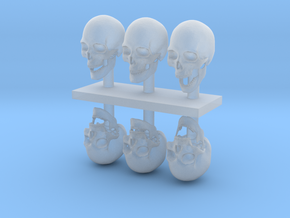1:12 scale Skulls  in Smooth Fine Detail Plastic