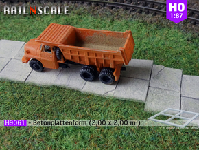 H9061 - Betonplattenform (H0 1:87) in Smooth Fine Detail Plastic