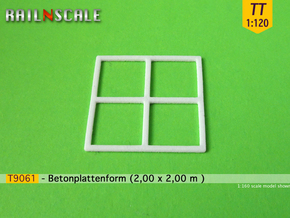 T9061 - Betonplattenform (TT 1:120) in Smooth Fine Detail Plastic