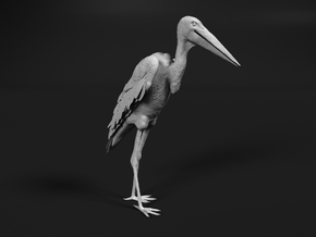 Marabou Stork 1:24 Standing in Smooth Fine Detail Plastic